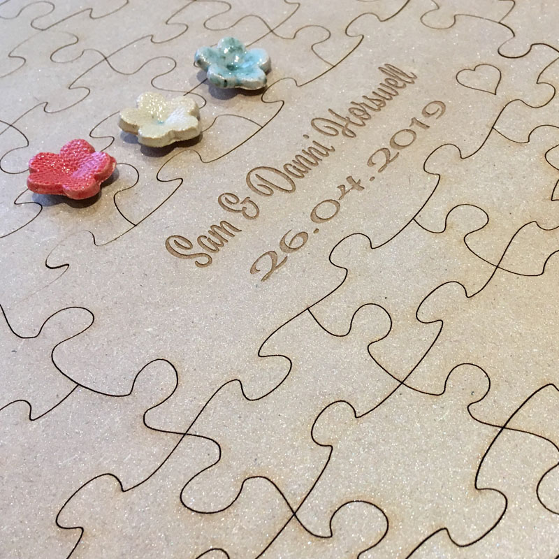 Personalised Jigsaw Puzzle Wedding Guest Book 2